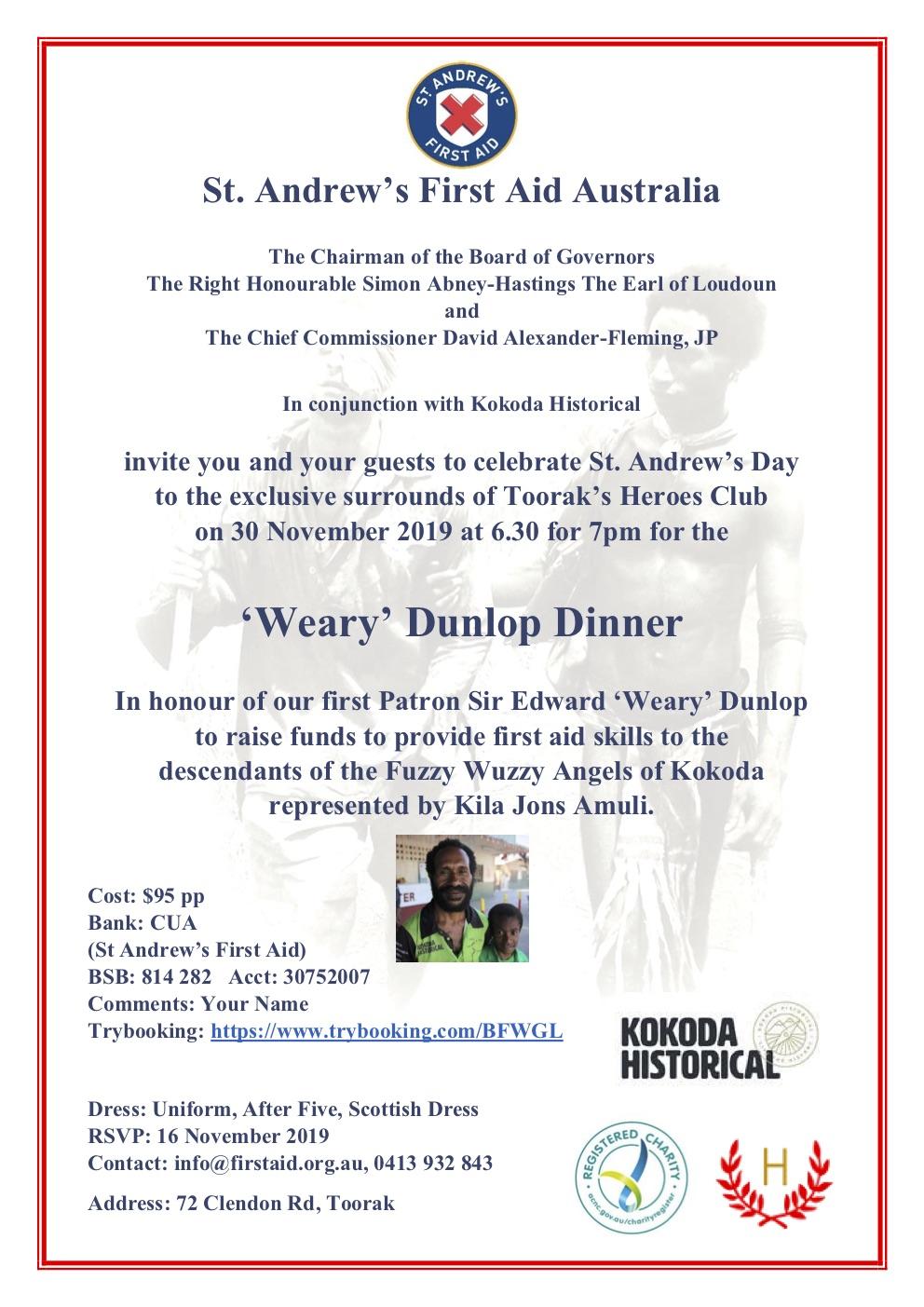 Weary Dunlop Dinner